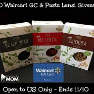 $50 Walmart Gift Card and Three Boxes of Pasta Lensi Giveaway