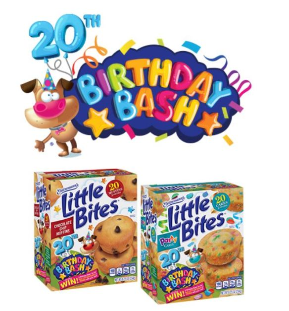 You Can Enter The EntenmannsR Little BitesR 20th Birthday Bash Sweepstakes Between January 212019 And March 29 2019 There Are Two Ways To