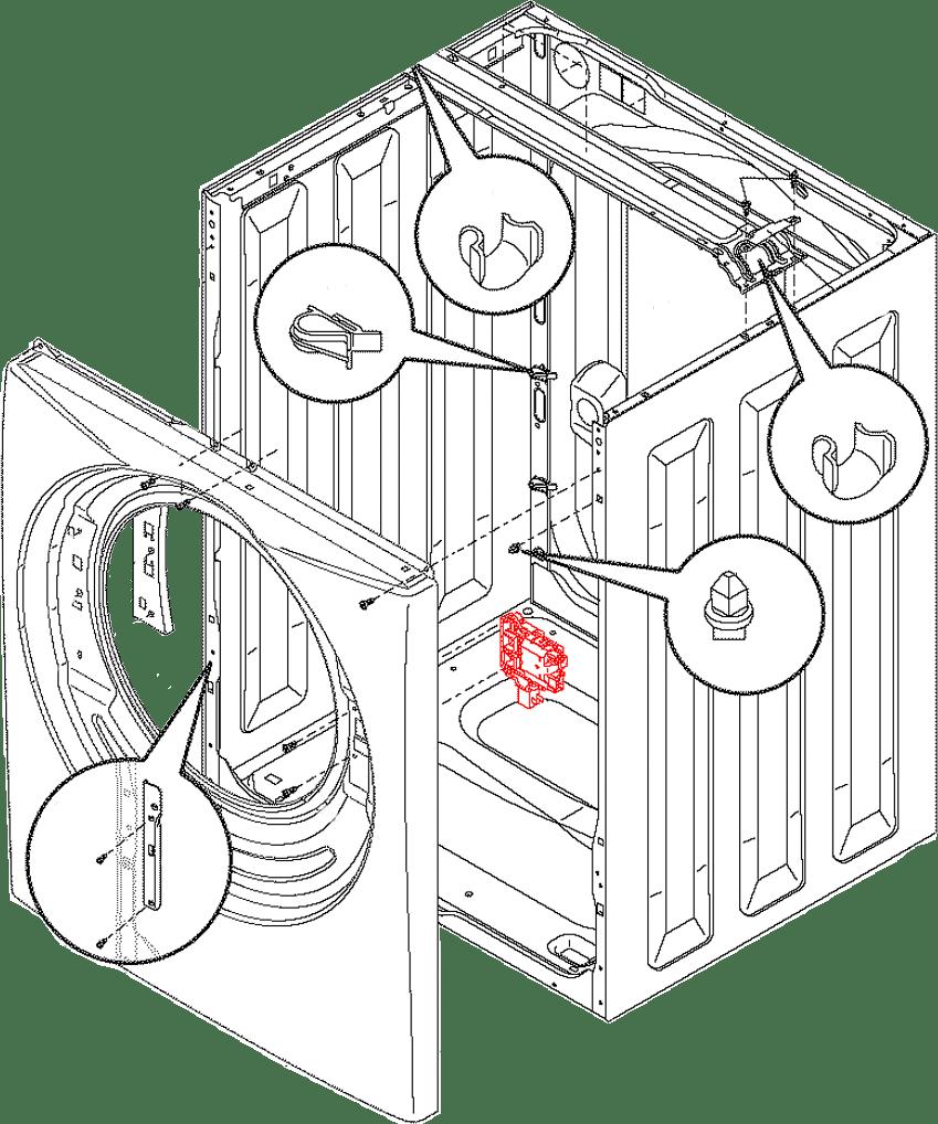 131763256 131763202 Frigidaire Door Latch Replacement