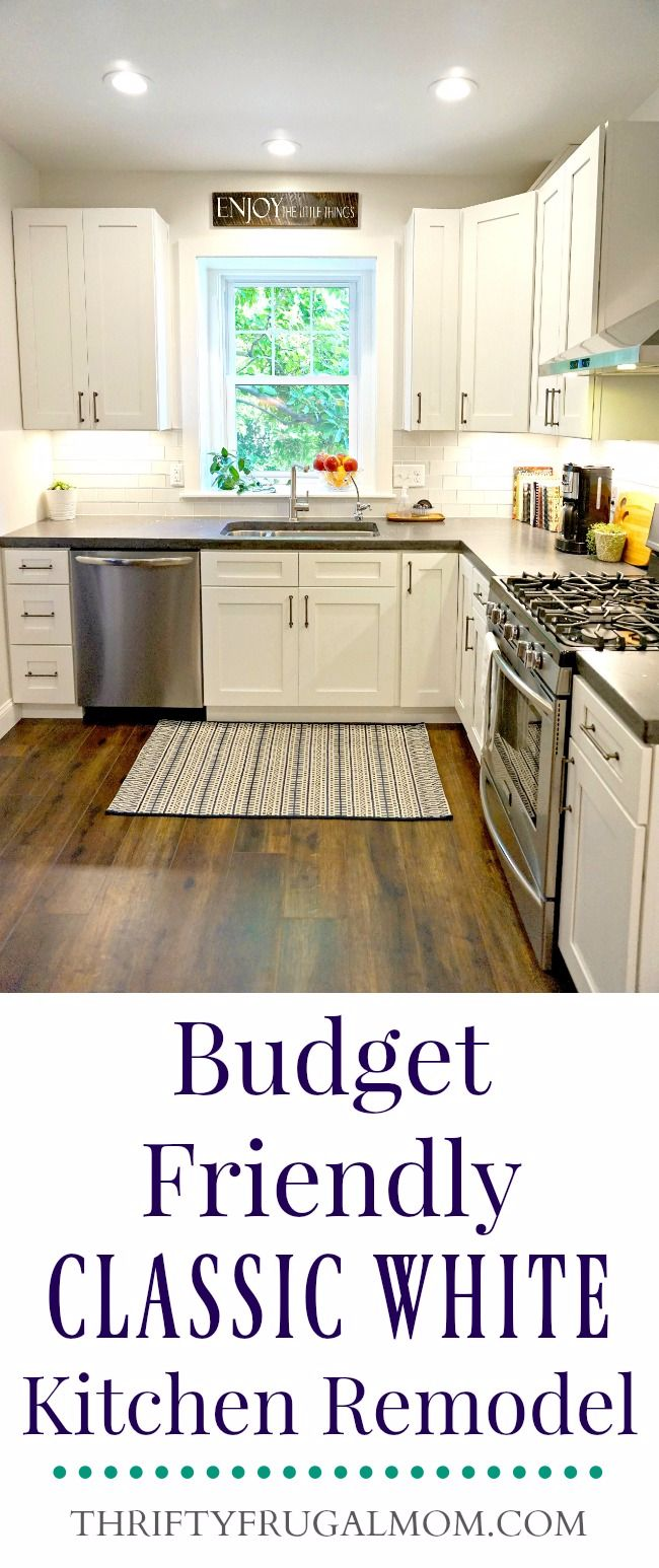 kitchen remodel how to calphalon essentials stainless steel budget friendly classic white all the details get on our frugal learn we saved money and