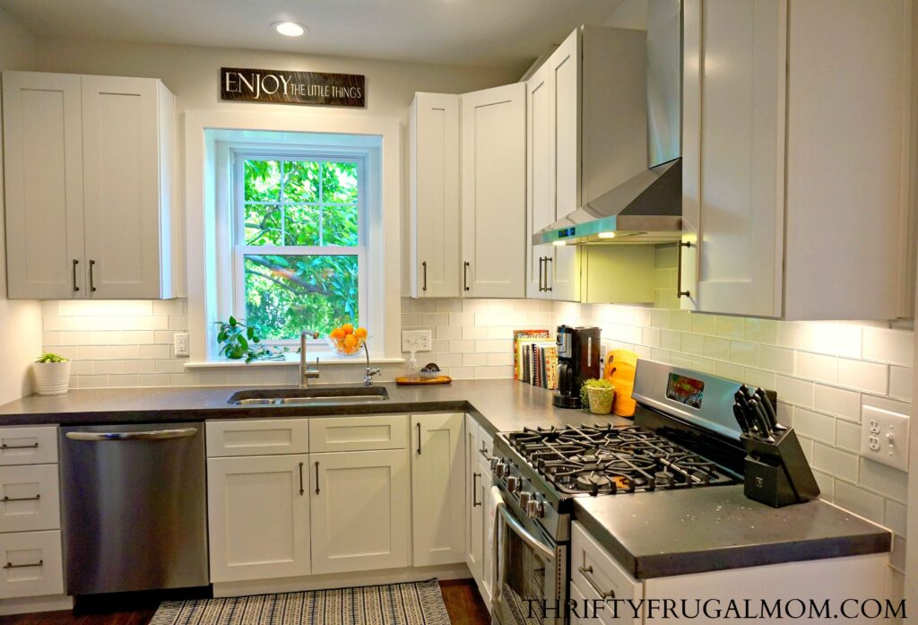 kitchen remodel budget cast iron sink friendly classic white all the details gray and