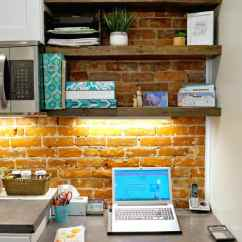Remodel A Kitchen Pot Hanger Budget Friendly Classic White All The Details Desk Area Command Center In Frugal