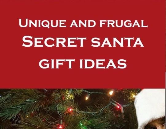 Secret Santa gift ideas, cheap secret santa gift ideas, inexpensive secret santa gift ideas, unique secret santa