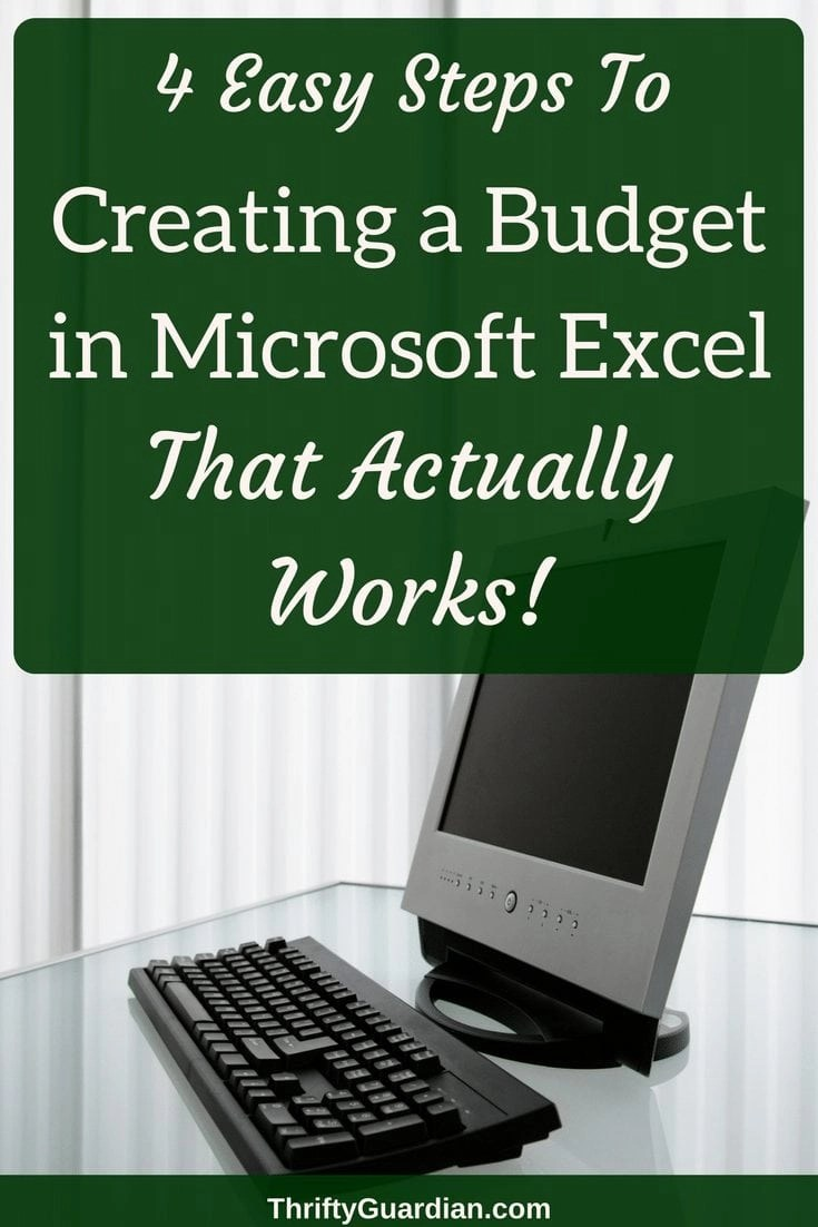Create a budget in Excel that you can actually stick to! Eliminate the stress and get on the path towards financial freedom today! #budget #excel #financialfreedom #spreadsheetbudget #createabudget #householdbudget #howtodoabudget #savemoney #frugal #thrifty