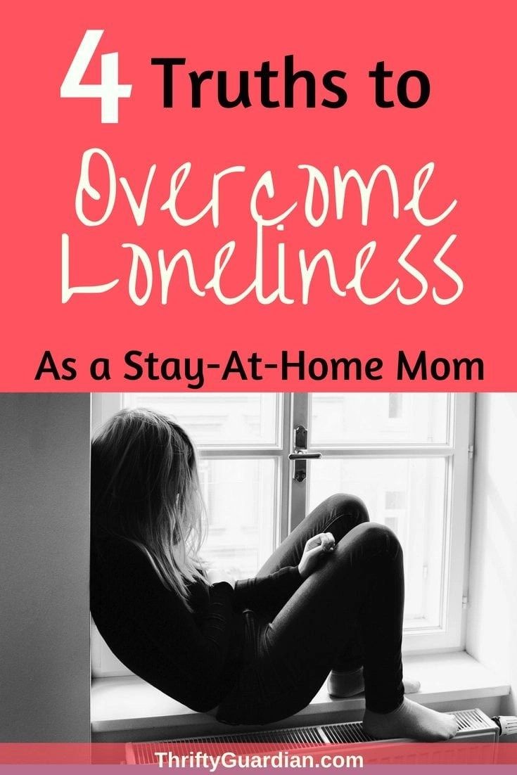 Being a stay-at-home or work-at-home mom can be tough, but being a mom without friends is even harder! Know that you're not alone in feeling lonely as a new (or not-so-new) mom. It's normal to want to make friends, but can be hard if you're an introvert like me. Mom loneliness is a thing! #thriftyguardian #lonelymom #makenewfriends #makefriends #stayathomemom #sahm #wahm #mommyblogger #bemyfriend
