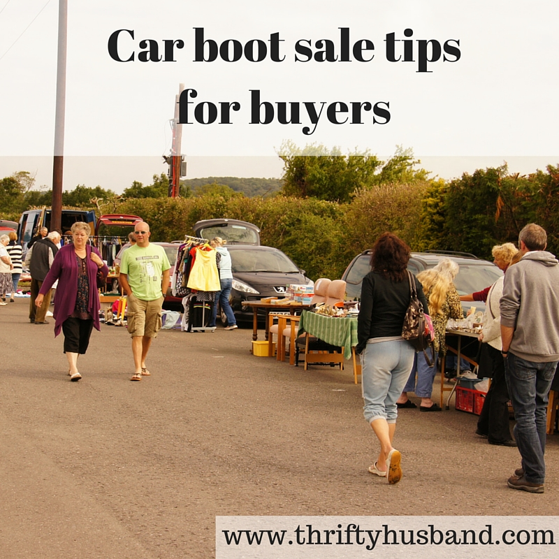 Car boot sale tips for buyers