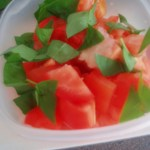 tomatoes and basil for panzanella