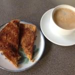 Cinnamon Toast for breakfast, 4p a slice