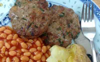 Home made sausage patties