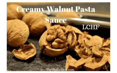Creamy Walnut pasta sauce – LCHF if you want it to be