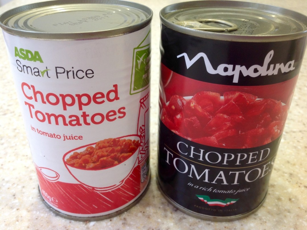 Tin of tomatoes