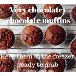 Chocolate Muffins. Quick, easy, great for packups and just 11p each