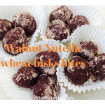 Walnut 'Nutella' and wheat bisks bites. These are so good they're dangerous!