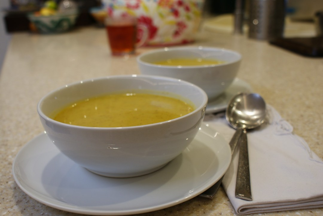 Spiced broccoli soup recipe