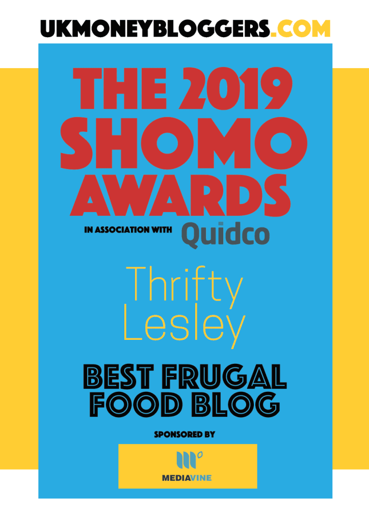 Best frugal food blog 2019