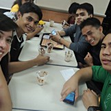 Taking a break from facebooking at McDonald's. Hehehe! Thanks to Allan who treated each of us with a sundae.