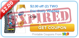 $2.00 off (2) TWO Dial Body Washes