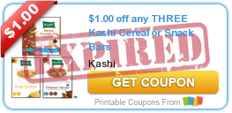 $1.00 off any THREE Kashi Cereal or Snack Bars