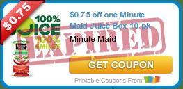 $0.75 off one Minute Maid Juice Box 10-pk