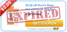 $2.00 off Burt's Bees Natural Acne Solution