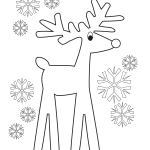 Reindeer Coloring Page Printable