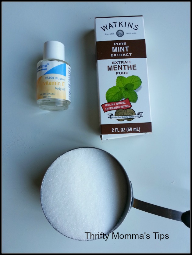 mint body scrub ingredients
