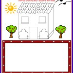 Family Day Printable Worksheets for Kids: Our Household