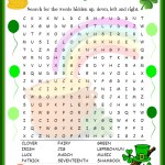 St. Patrick's Day Word Search Free Printable