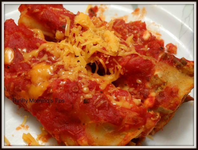 Cheesy stuffed pasta