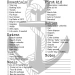 Beach and Pool Checklist Printable