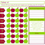 Are Your Getting Enough Fruits and Veggies? Printable Fruit and Vegetable Journal