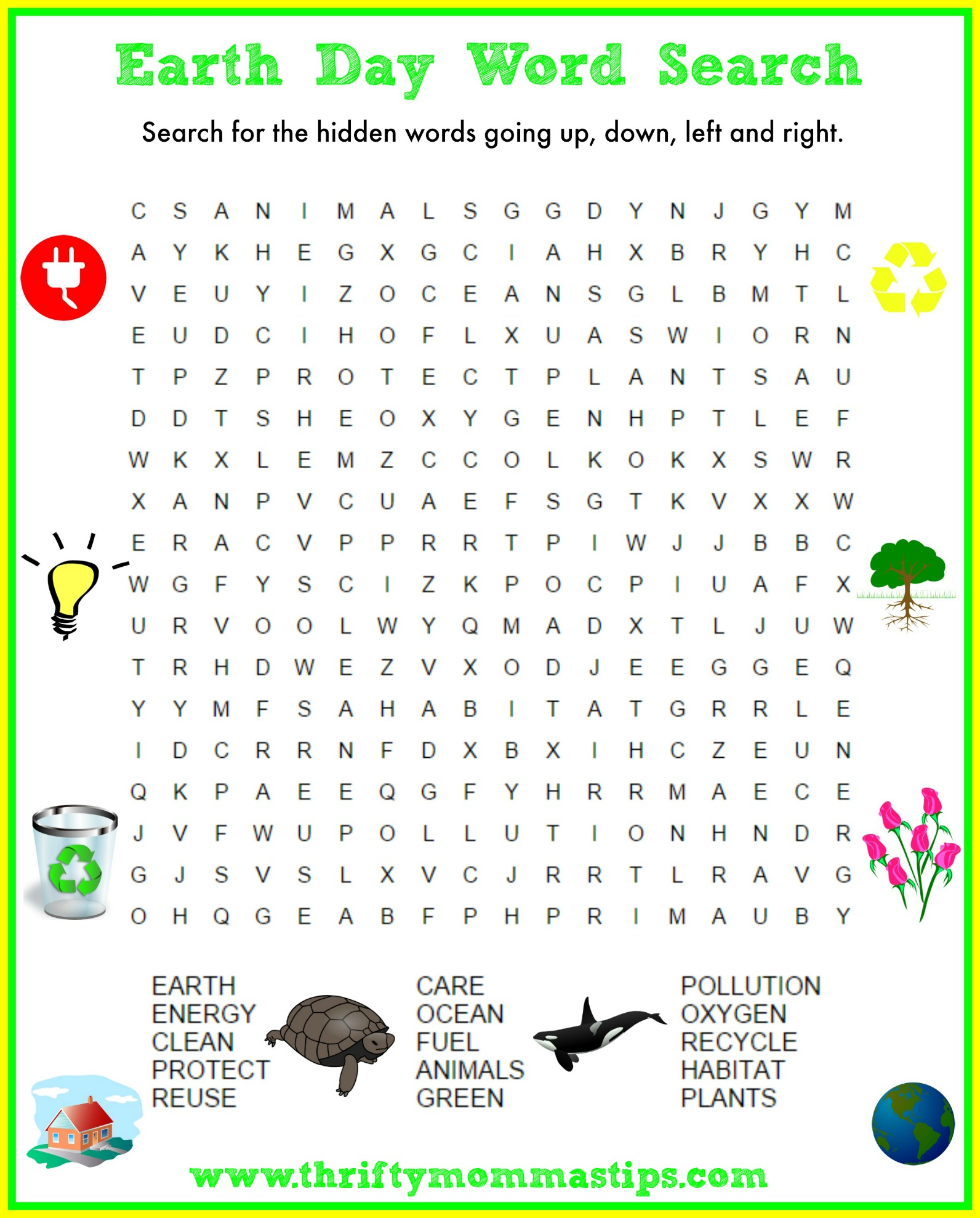 picture regarding Earth Day Crossword Puzzle Printable called Entire world Working day Crossword Puzzle - Thrifty Mommas Strategies