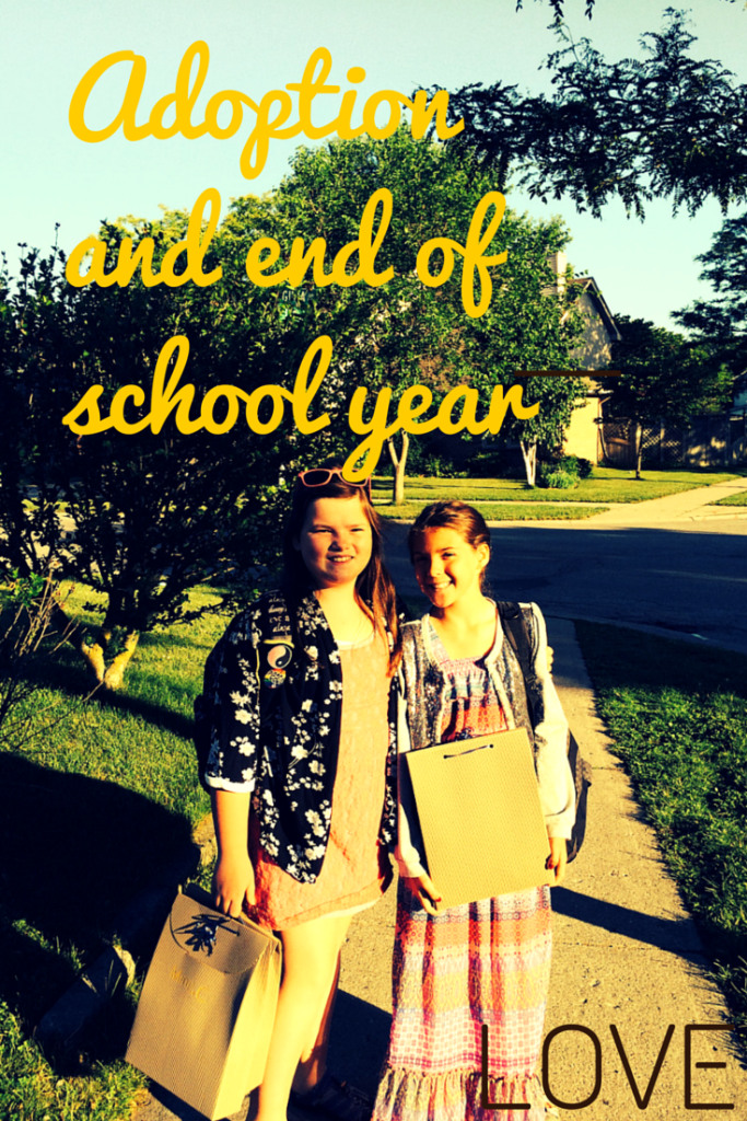 adoption and end of school year