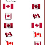 Fun Canada Day Matching Game Printable