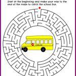 Back to School Maze Printable #BTS