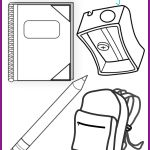 Back to School Coloring Page Printable