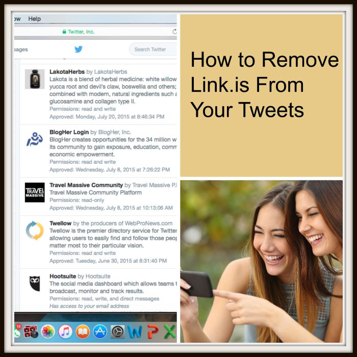 How to Remove Link.is From Your Tweets