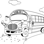 School Bus Coloring Page For Back To School #BTS