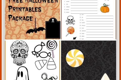 halloween printables package