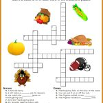 Thanksgiving Crossword Puzzle Printable