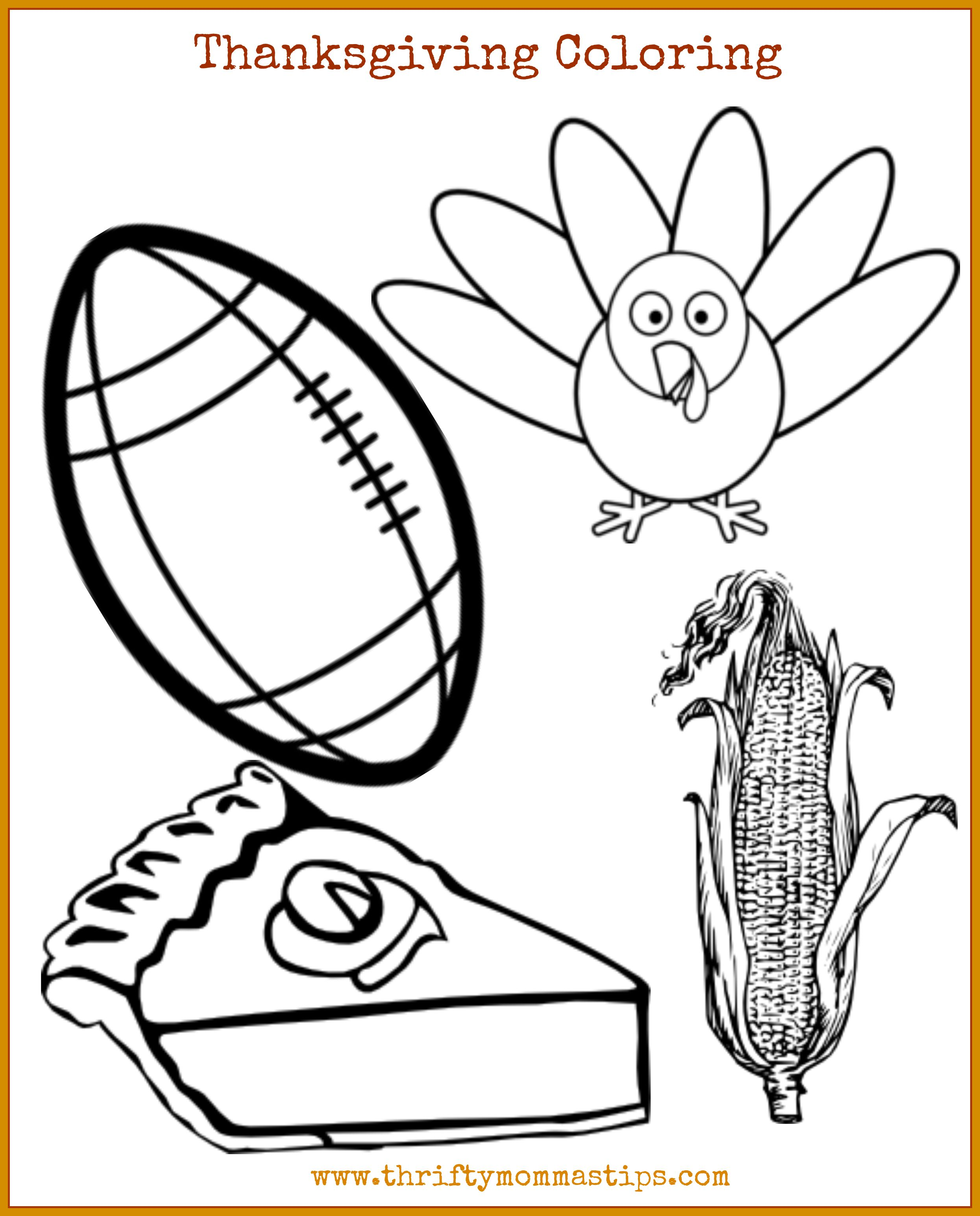 Get This Free Thanksgiving Coloring Sheet Now - Thrifty ...
