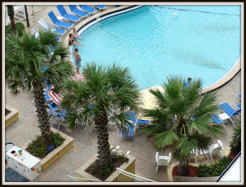 daytona beach shores pool from above