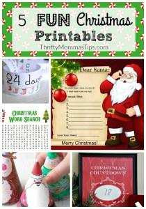 5 fun Christmas printables