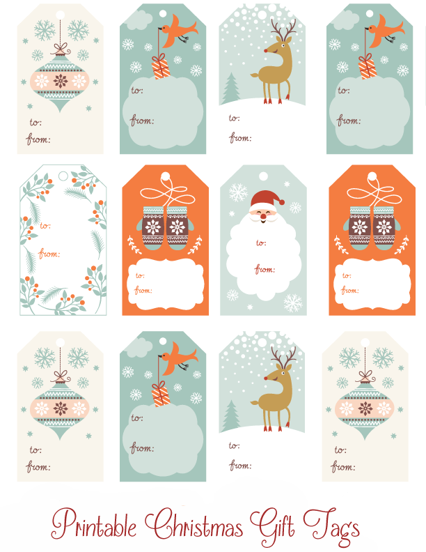 Cute Printable Christmas Gift Tags Thrifty Mommas Tips