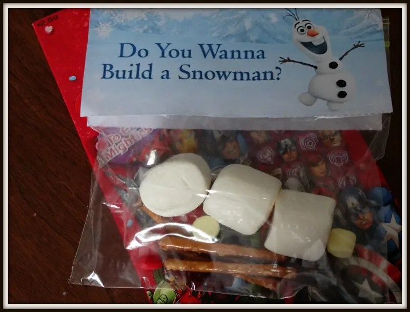 olaf marshmallow craft