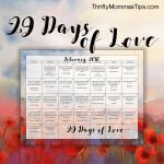 29 Days of Love Sayings February Calendar Printable