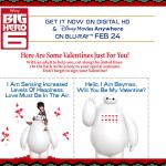 Baymax Big Hero 6 Valentine's #ValentinesDay