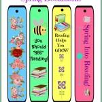 Free Cheery DIY Spring Bookmarks Printable