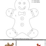 Gingerbread Man Colouring Activity and Bookmark