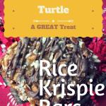 Amazing Chocolate Pecan Turtle Rice Krispie Bars